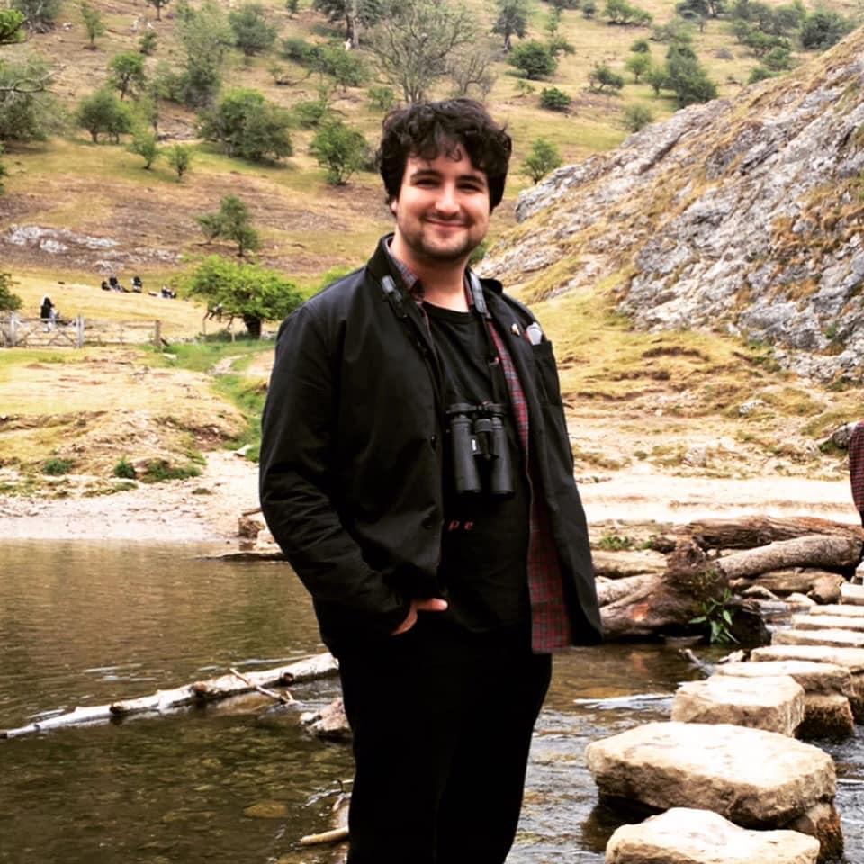 A photo of the presenter Joe Danks
